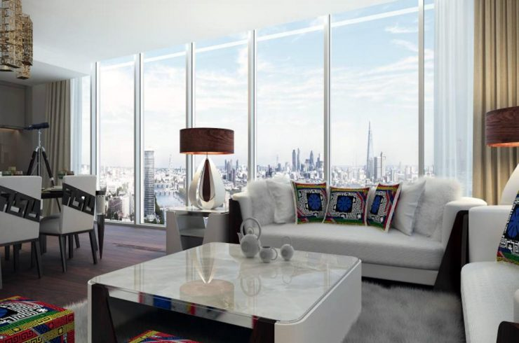 Penthouse in London by Versace on Thames banks