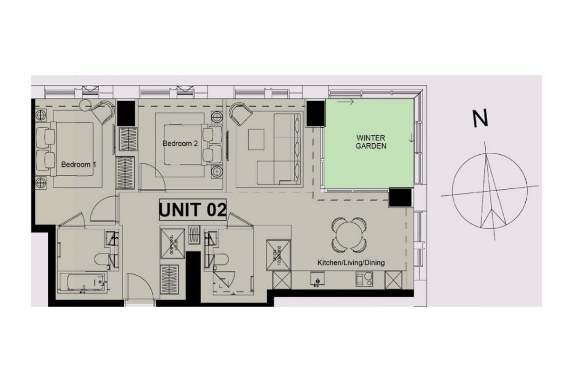 Penthouse in London Floor Map (Unit 2)
