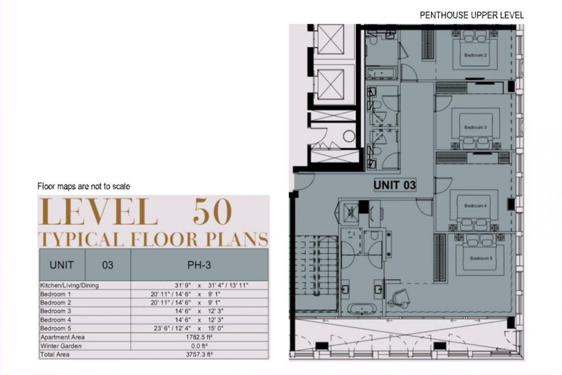 Penthouse in London-Plan-02