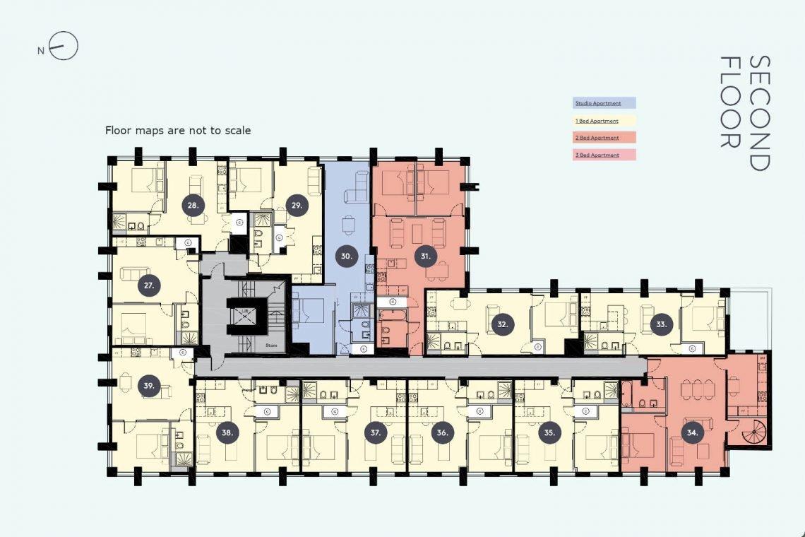 Flat in Uxbridge Floor Map Apt-39-1