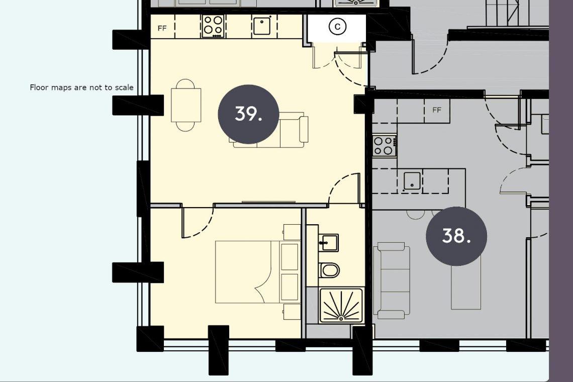 Flat in Uxbridge Floor Map Apt-39-2