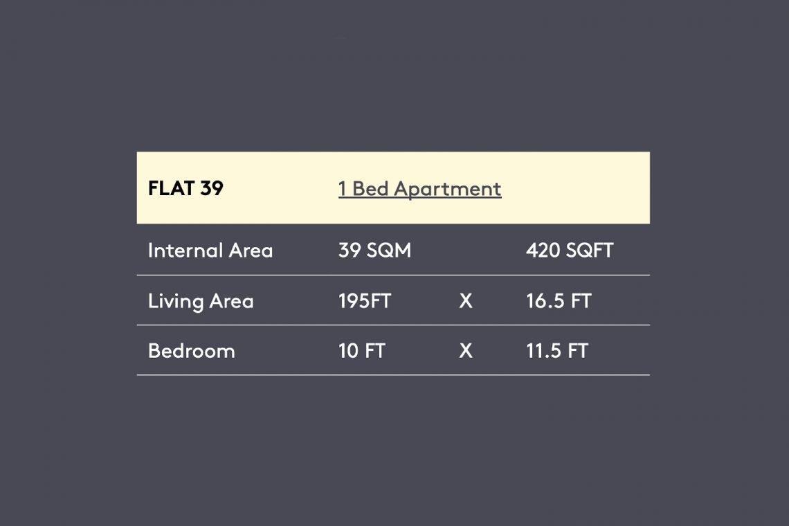 Flat in Uxbridge Floor Map Apt-39-3