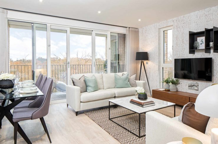 Waterside apartment in North West London for sale